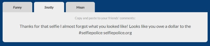 Selfie Police Call Out image