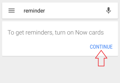 Android Reminder Set up 1