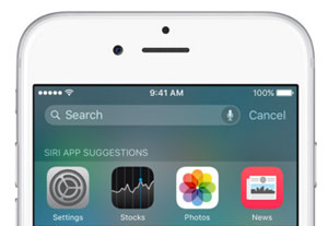 ios 9 search in settings