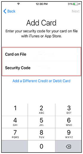 Apple Pay - Add Card