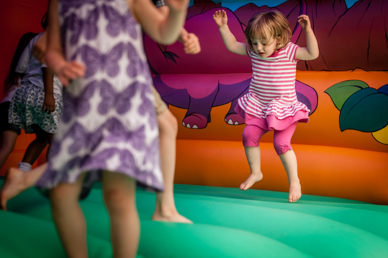Child in Bouncy House