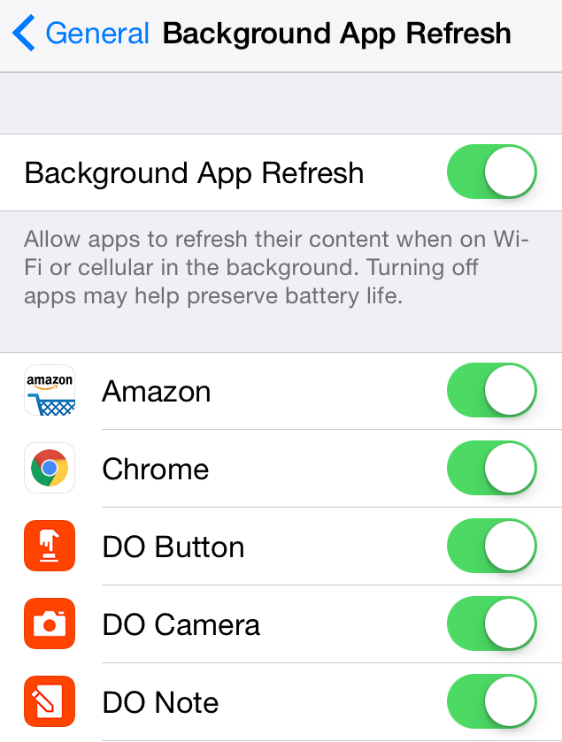 Conserve Phone Data by Turning Off the Background Refresh