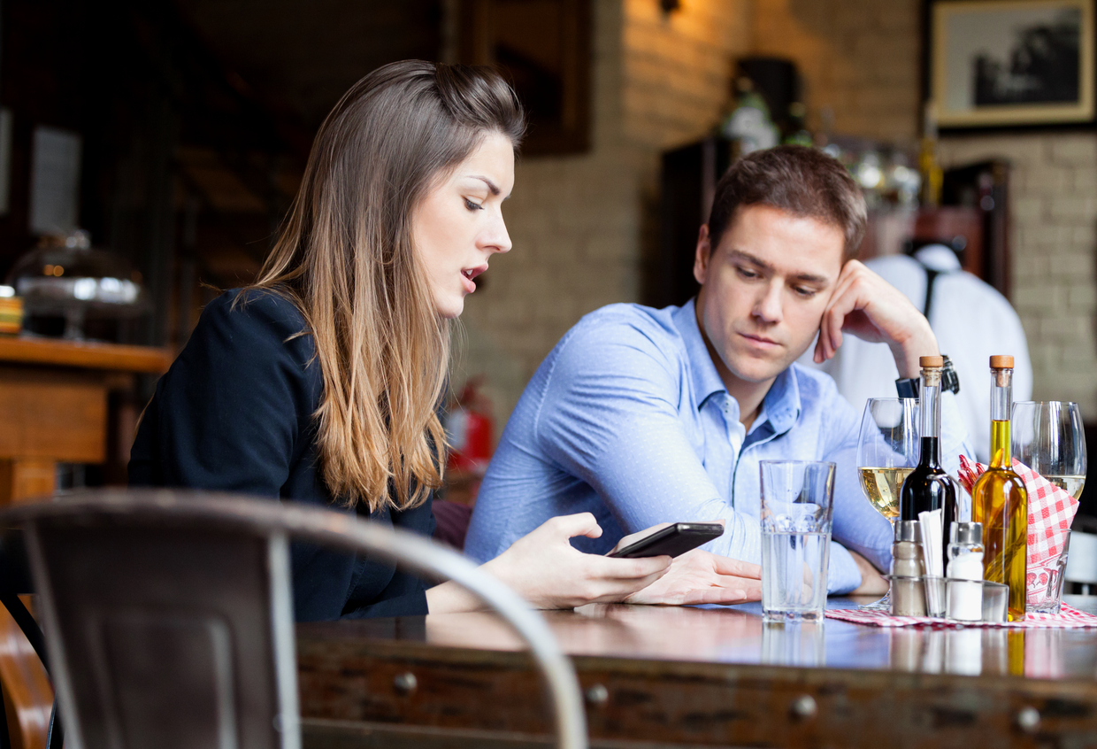 Cracked screen? Texting on a date? You're being judged.