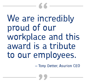Quote from Tony Detter, Asurion CEO