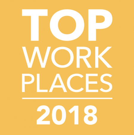 2018 Top Workplaces Award by The Tennessean