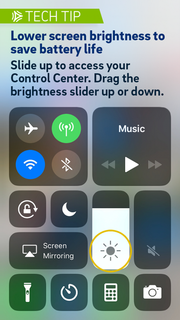 Asurion Tech Tip Save iPhone Battery Adjust Screen Brightness
