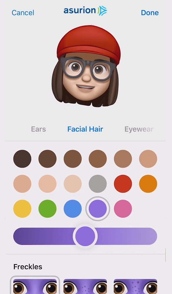 Customizing your Memoji in iOS 12