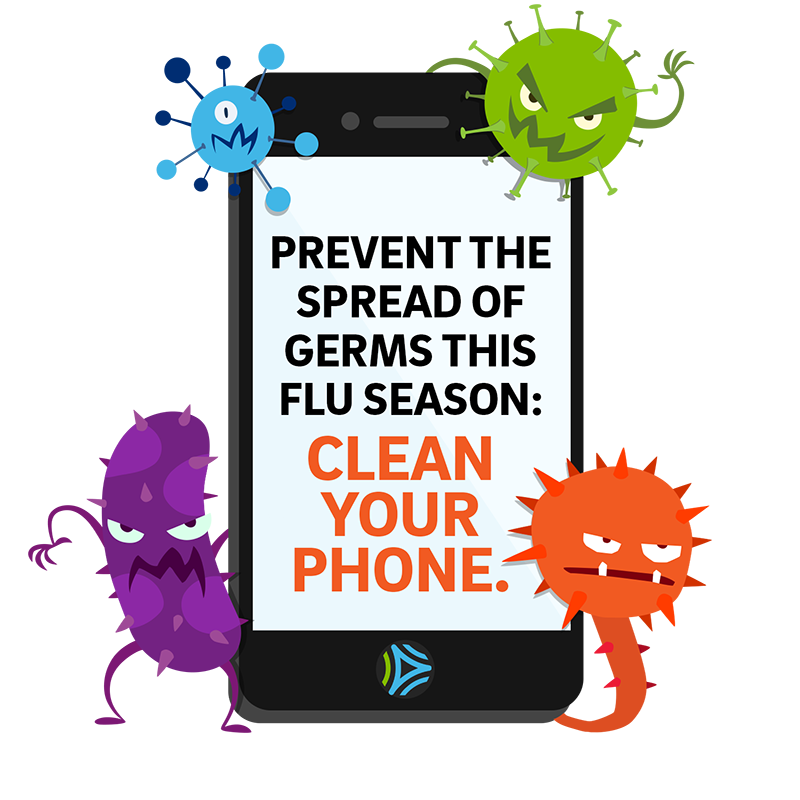 Clean germs from your phone to help prevent flu