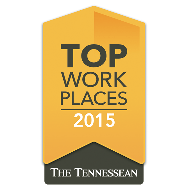 2015 Top Workplaces Award by The Tennessean