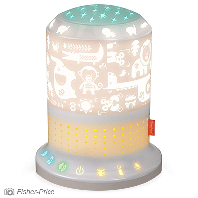 Smart light and sound projector for baby and toddler nursery