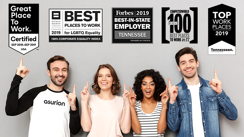 Asurion earns multiple top workplace awards