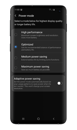 android power mode