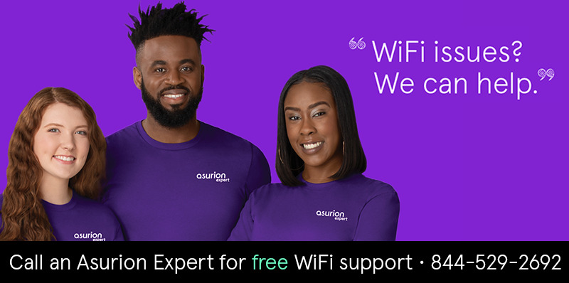 Free WiFi support from Asurion