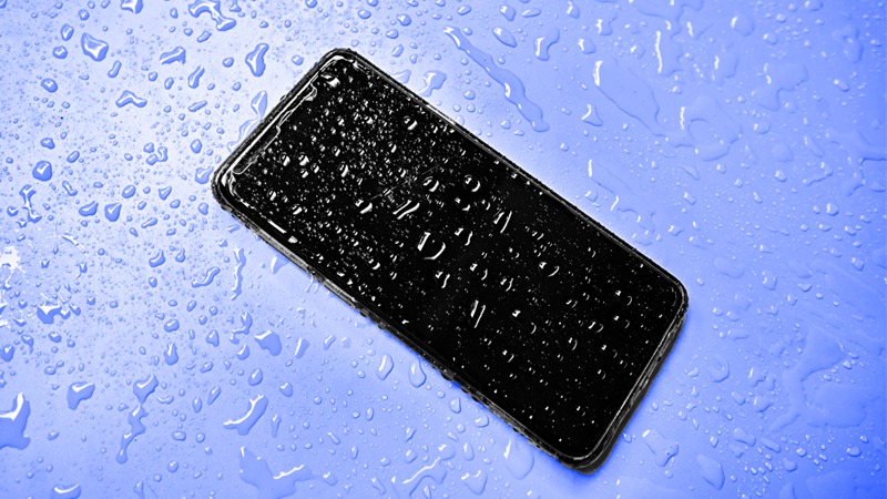 Smart phone with water damage