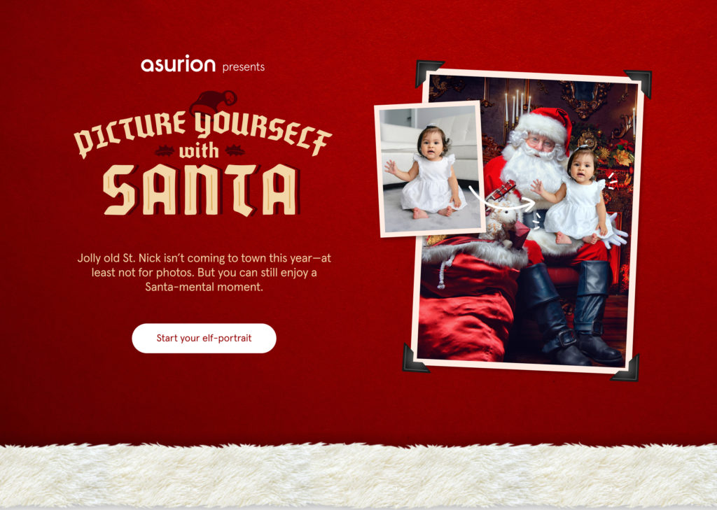 Asurion's Picture Yourself with Santa