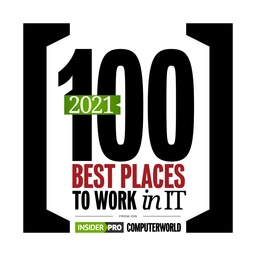 IDG Insider Pro and Computerworld Best PLaces to Work in IT 2021 Logo
